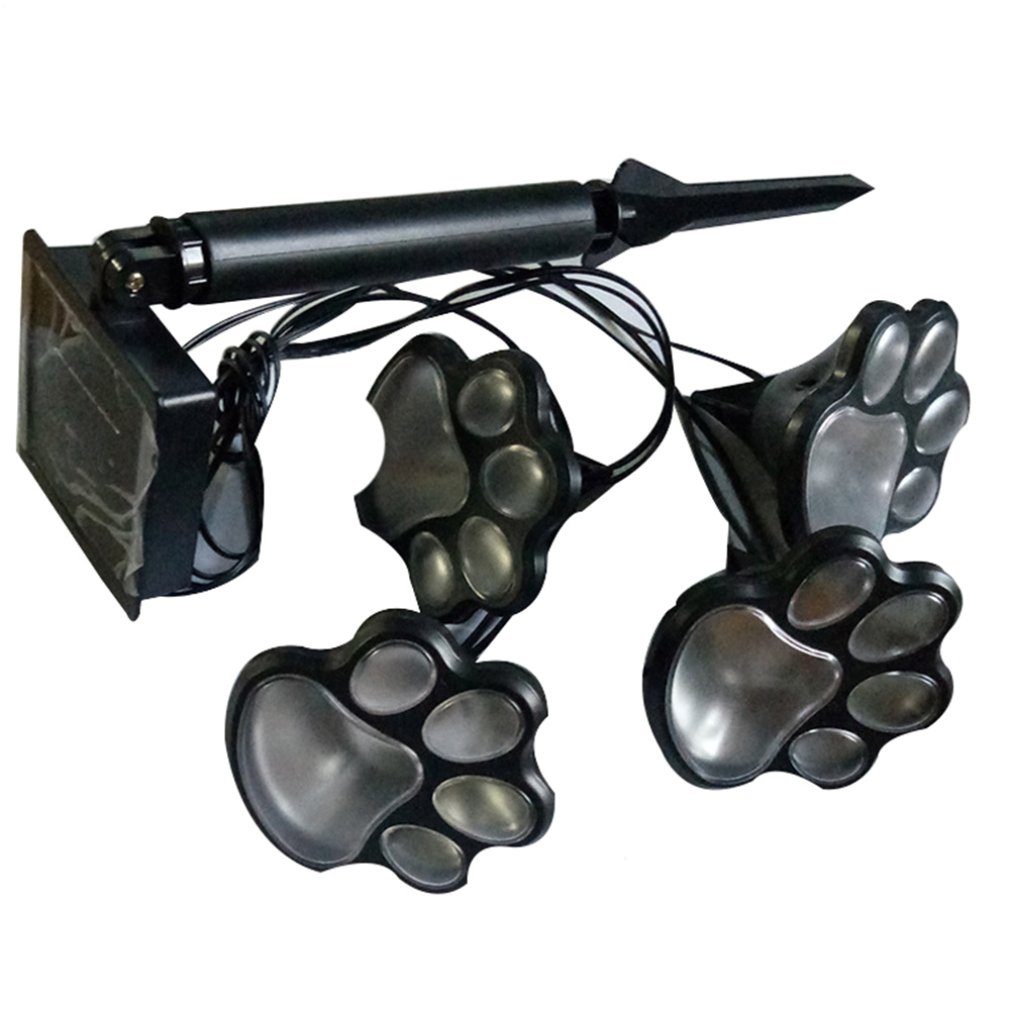 Solar Animal Paw Print Lights Garden Outdoors Lantern Landscape  Print Lights Cute Bear Paw LED Path Decorative Lighting