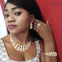 Fani دبي الذهب طقم مجوهرات مصمم نيجيريا النساء اكسسوارات طقم مجوهرات الزفاف موضة الخرز الأفريقي طقم مجوهرات بالجملةمجموعات المجوهرات
