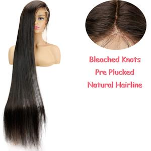 Image 2 - Eseewigs 28 30 32 34 36 38 40 42 inch Long Brazilian Virgin Human Hair Full Lace Wigs Silk Straight 613 Color for Women 150%