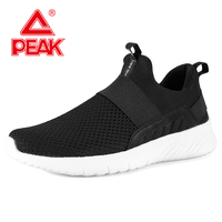 PEAK Men Light Weight Walking Shoes Breathable Gym Shoes Easy Flex Outdoor Sport Shoes Comfortable Fitness Sneakers
