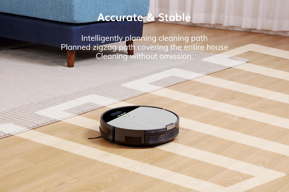 H14faed4964b246abad5af14b89db0837C ILIFE V8s Robot Vacuum Cleaner Sweep&Wet Mop Navigation Planned Cleaning large Dustbin large Water Tank Schedule disinfection