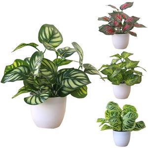 Искусственное растение в горшке, бонсай для свадебной вечеринки, домашний торговый центр, офисный декор, искусственные бонсай, пластиковые ...