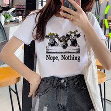 Модные красивые крупного рогатого скота футболка для женщин