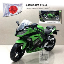 6pcs/lot Wholesale JOYCITY 1/12 Scale Motorcycle Model KAWASAKI NINJA/H2 Diecast Metal Motorbike Toy