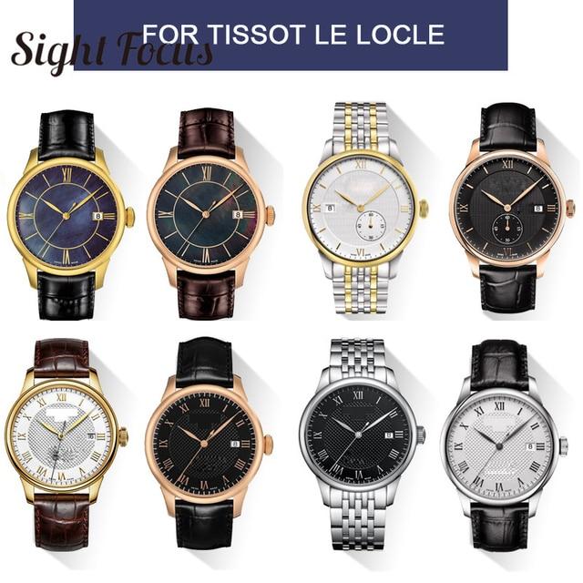 19mm 20mm 22mm dana derisi saat kordonları Tissot için Le Locle T41 T006 PRC200 saat kayışı bileklik izle bilezik 1853 kordonlu saat erkekler