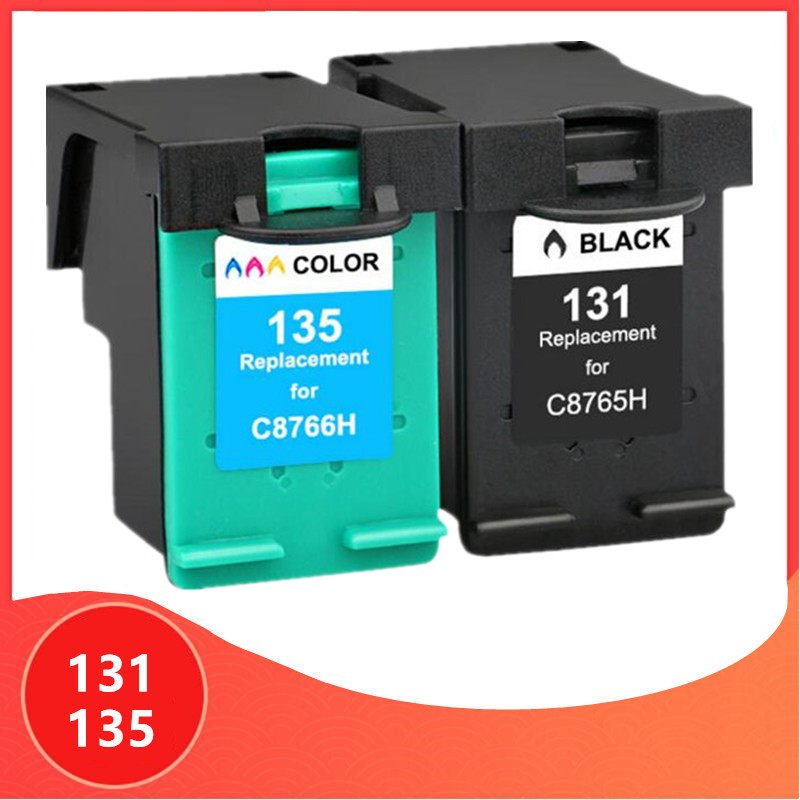 Ink Cartridge Replacement For HP 131 135 For Hp131 For HP135 2573 2613 8753 PSC 1600 1613 2350 460 5743 5940 5943 6940 Printer