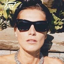 Simprect 2020 uv400 квадратные очки солнцезащитные женские Люксовый