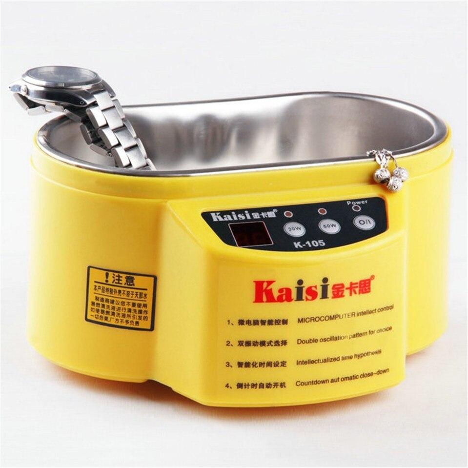 Kaisi 110 V/220 V Цифровая ультразвуковая ванна небольшое очищающее удаление пыли для часов Электронные аксессуары
