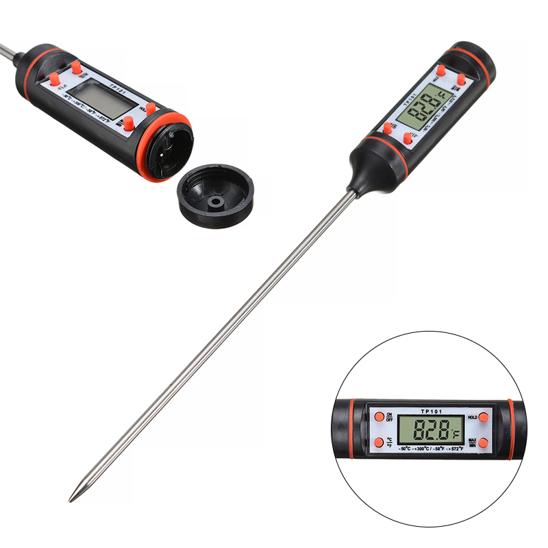 Kitchen Digital Cooking Thermometer Food Meat Instant Read Thermometer Tools For BBQ Picnic Grill Food -50 To +300 Degree