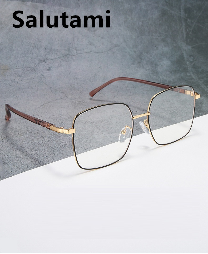Anti-blue Light TR90 Clear Lens Glasses Frame For Women 2020 Retro Vintage Computer Goggle Eyewear Female Oversize Square Shades
