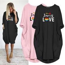 Женское свободное платье размера плюс 5xl Радужное пляжное с