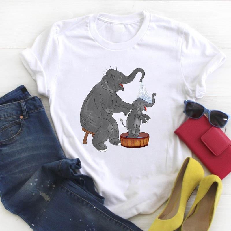 Women Lady Love Clothing Funny Mom Kids Print Animal Summer Ladies T Tee Tshirt Womens Female Top Shirt Clothes Graphic T-shirt 1
