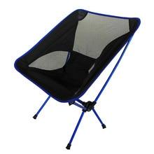 낚시 캠핑을위한 고품질 알루미늄 합금 메쉬 휴대용 의자 야외 스포츠 초경량 바베큐 접는 의자