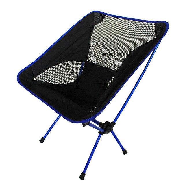 Chaise portative de maille dalliage daluminium de haute qualité pour la pêche Camping Sports de plein air chaises pliantes de Barbecue ultra léger