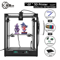 Creativity CoreXY structure ELF 3D printer,High precision Aluminium Profile Frame Big Area Kit Dual Z Axis Automatic Return