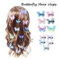 Candy Farbe Mode Schmetterling Haar Clips für Frauen Baby Mädchen Kinder Haarspange Hochzeit Haarnadeln Haar Zubehör Haarspange Ornamente