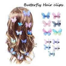 5Pcs //Set Girls Flower Alloy Hairpin Resin Cross Hair Clip Candy Color Barrette