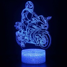 lmotorcycle 3d lamp lovely gift for Christmas Led Night Light Color Changing  Light  Remote Touch switch lamps for Christmas