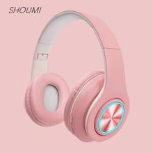Wireless Headphones 9D Hifi Stereo Macaron Headphone with Mic TF Card Mp3 Player Wireless Bluetooth 5.0 Earphones 039 for Xiaomi