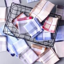 Square Plaid Stripe Handkerchiefs Pocket Cotton Towel Random Cotton handkerchief Classic Handkerchief Pocket Pocket Squares