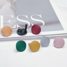 Liga redonda brinco do parafuso prisioneiro encontrando componentes eardrop estilo simples diy jóias acessórios materiais artesanais 8 peças