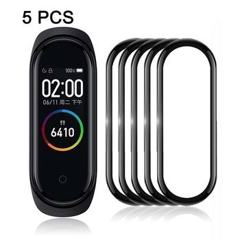 Suitable for Xiaomi Mi Band 4/5 Soft Glass Protective Film Suitable for Mi Band 4 Screen Strap Case Smart Accessories