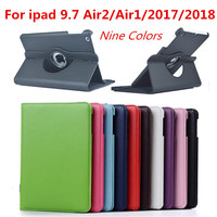 For IPad Air 2 Case for IPad 9.7 2018 2017 Air 1 Case Cover 5 6 5th 6th Generation case 360 Degree Rotating Leather Smart Coque