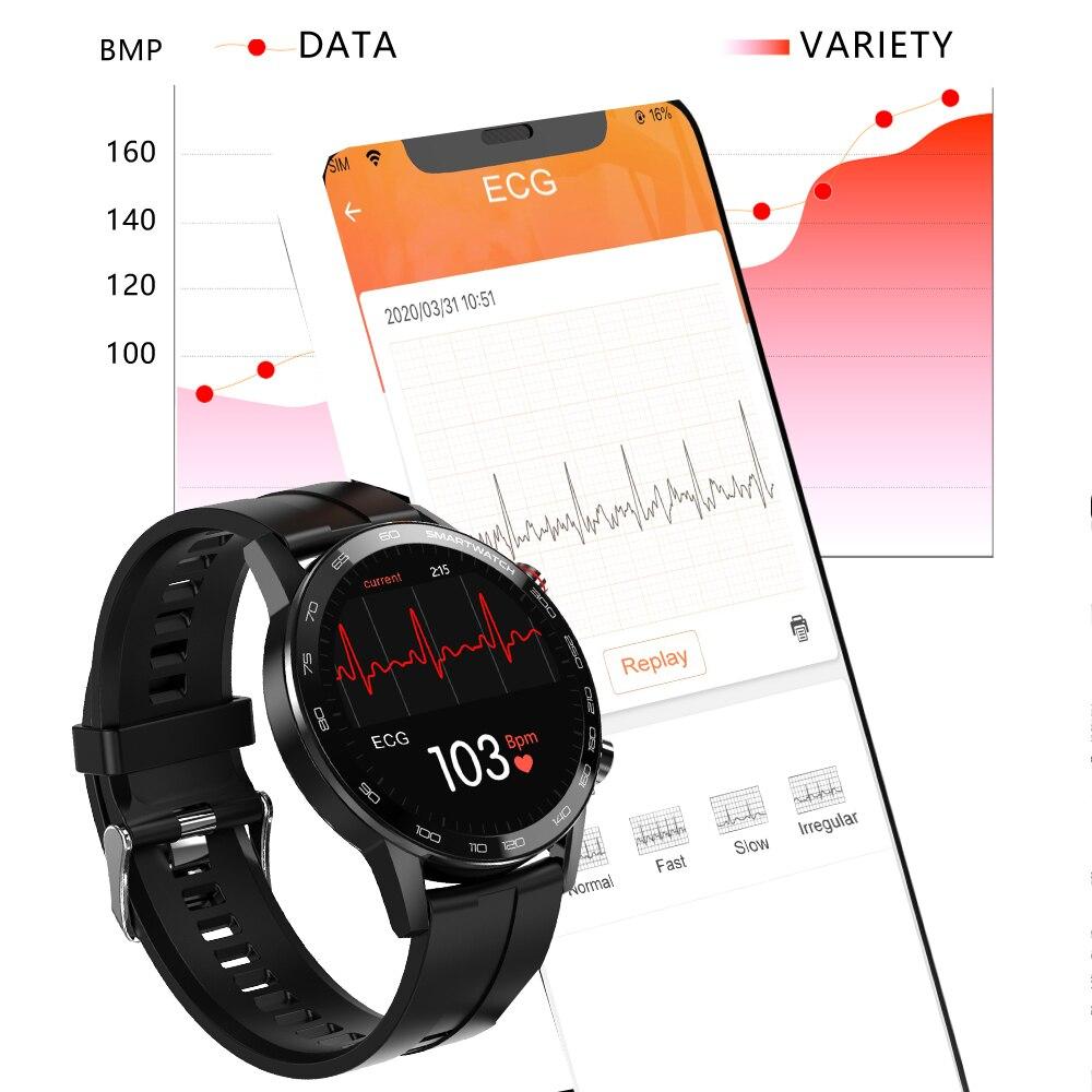 Nieuwe L5 Update L16 Smart Watch Heren IP68 Waterdicht Meerdere sporten Modus Hartslag Weersverwachting Bluetooth Smartwatch 6