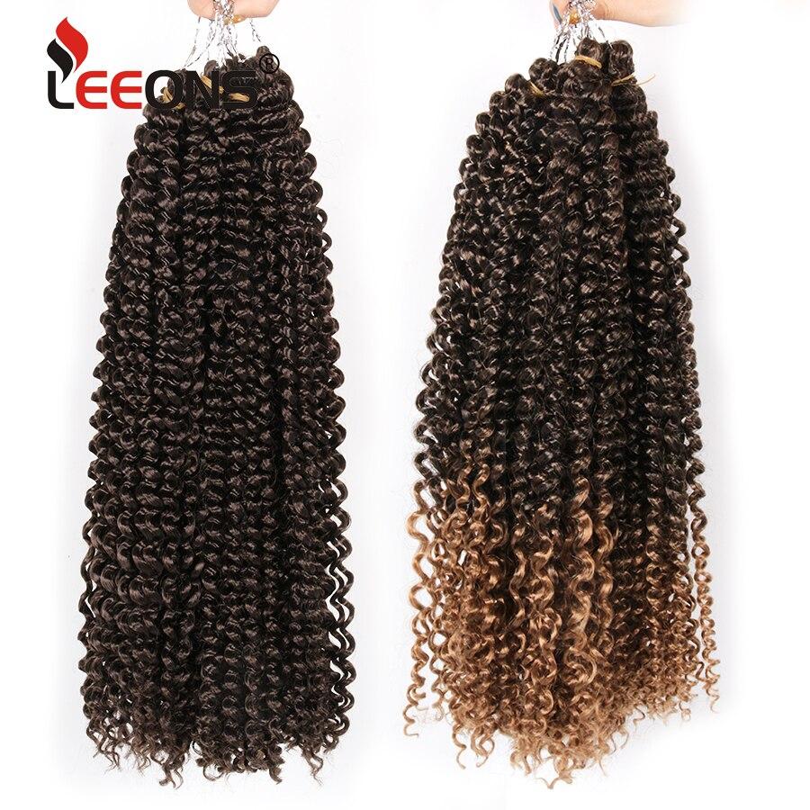 Leeons 18 дюймов длинные страсти твист волосы для женщин 30 корней Синтетические афро кудрявые волосы для наращивания канекалон крючком