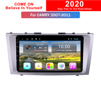 2G RAM 9 Inch Android 9.0 Full Touch Screen Car Multimedia For Toyota Camry 2007 2011 Gps Radio Navigation Display Dashboard