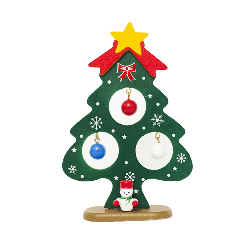 Diy Solid Christmas Tree Ornaments Painted Christmas Plaque Ornament Wall Hanging For New Year Christmas Decorations