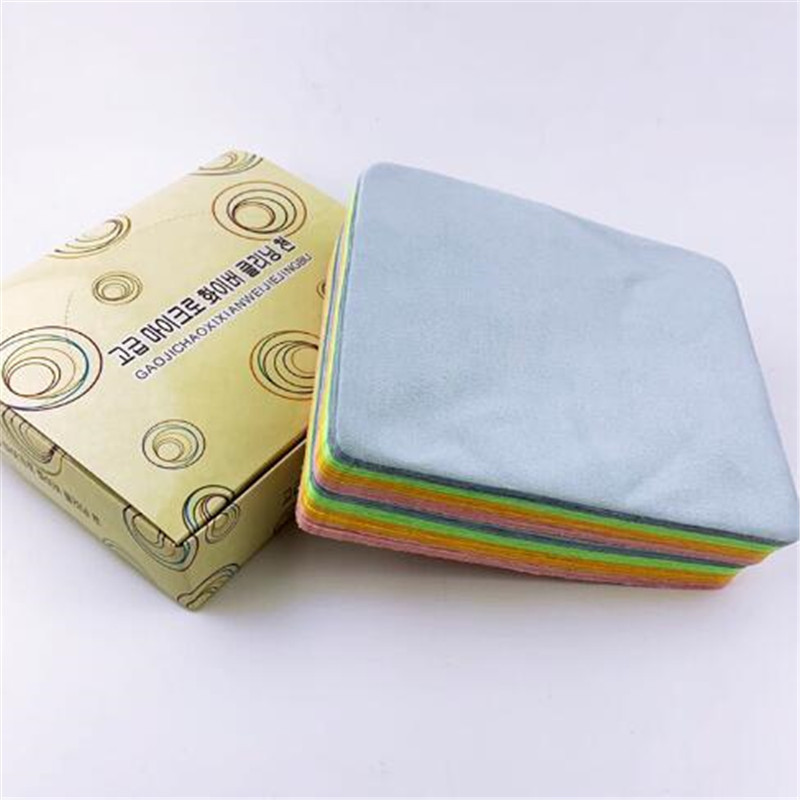 5Pcs Soft Chamois Glasses Cleaner Eyeglasses Microfiber Clean Cloth for Lens Phone Screen Cleaning Wipes Tools 6