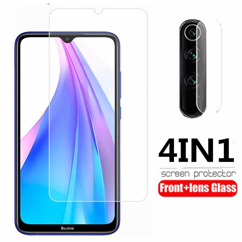 4in1 ป้องกันสำหรับ Xiomi Redmi 7A หมายเหตุ 7 8 Pro 8T 9 S เลนส์ฟิล์มสำหรับ Xiaomi Redmi note8 Pro หมายเหตุ 9 ป้องกันหน้าจอ
