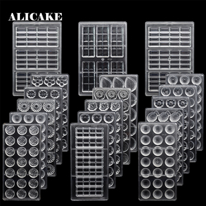 Image 1 - ALICAKE   Moule chocolat polycarbonate 3D pour pâtisserie Polycarbonate chocolat moules chocolat bonbons barres moules Polycarbonate plastique forme fleurs cuisson pâtisserie boulangerie ustensiles de cuisson