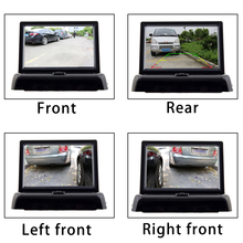 Zhidao rear view camera withi 4.3 screen blind spot visible car reversing aid
