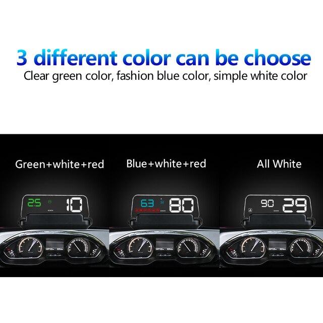 Фото автомобильный проектор повышенной скорости с дисплеем obd obd2