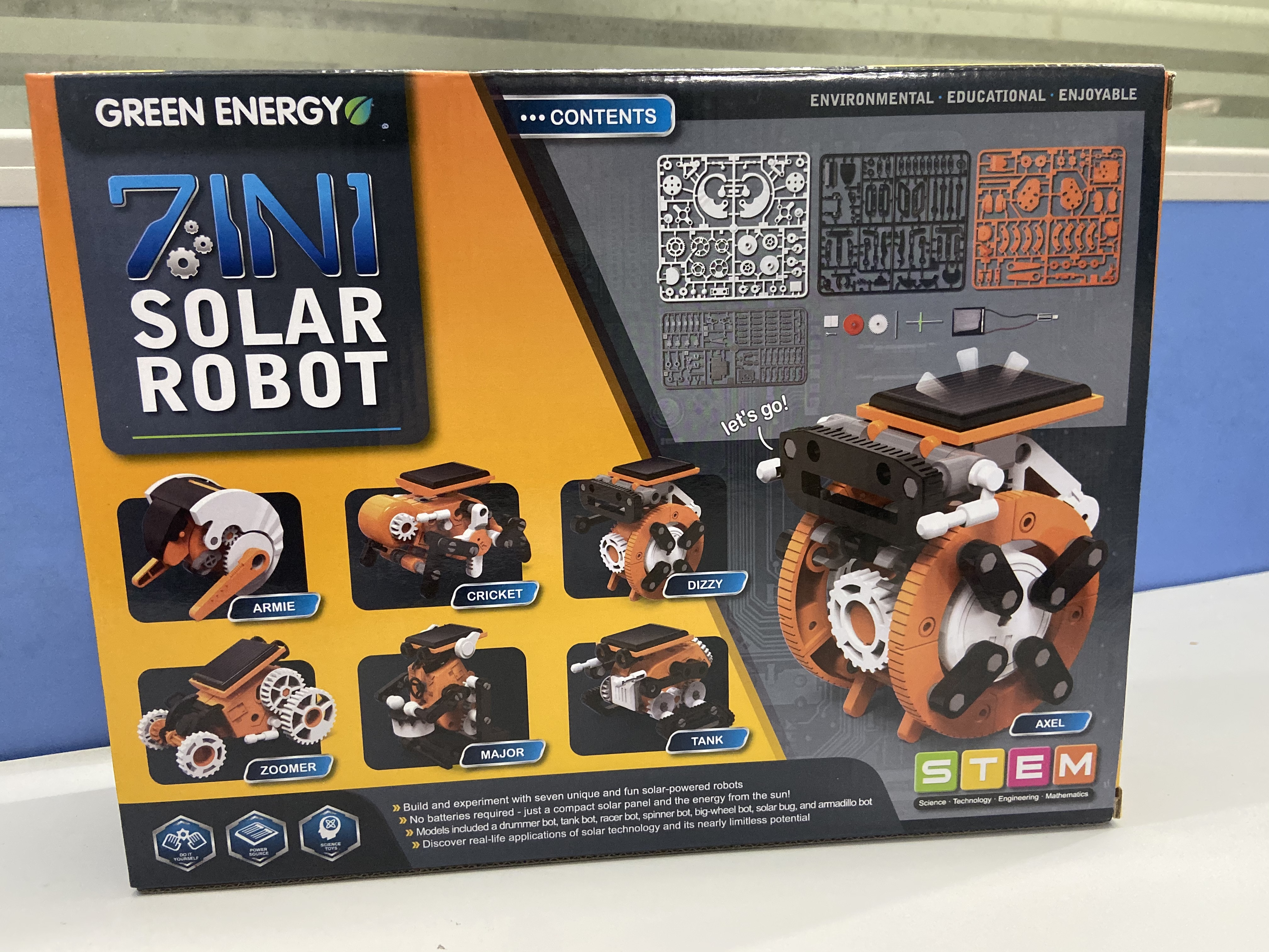 7 in 1 Solar Toys educational solar kit Power Robot Kit DIY Assemble Gadget Airplane Boat Car Train Model Science Gift for Kids