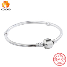 Sent Certificate! 100% Real 925 Sterling Silver Bracelet Bangle Wedding Jewelry Snake Bone Fit...