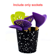 Oval Practical Tool Holder Universal Free Inserting Kitchen Wave Point Organizer Cutter Storage Multifunctional Compact Rack PP