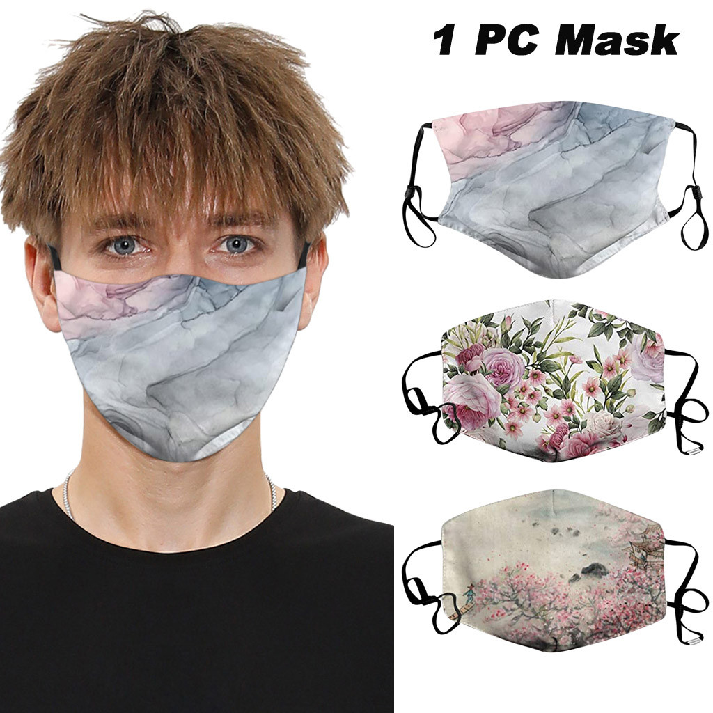 Reusable Dustproof Protective Mouth Face Masks PM.25 Printed Anti-spitting Mouth Masks Adult Unisex Mouth Face Masks Respirator
