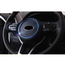 Lsrtw2017 Abs Car Steering Wheel Ring Trim for Kia Rio X Line Kx Cross K2 Rio 2017 2018 2019 2020 Interior Mouldings Accessories накладки под ручки дверей kx cross для kia rio x line 2017