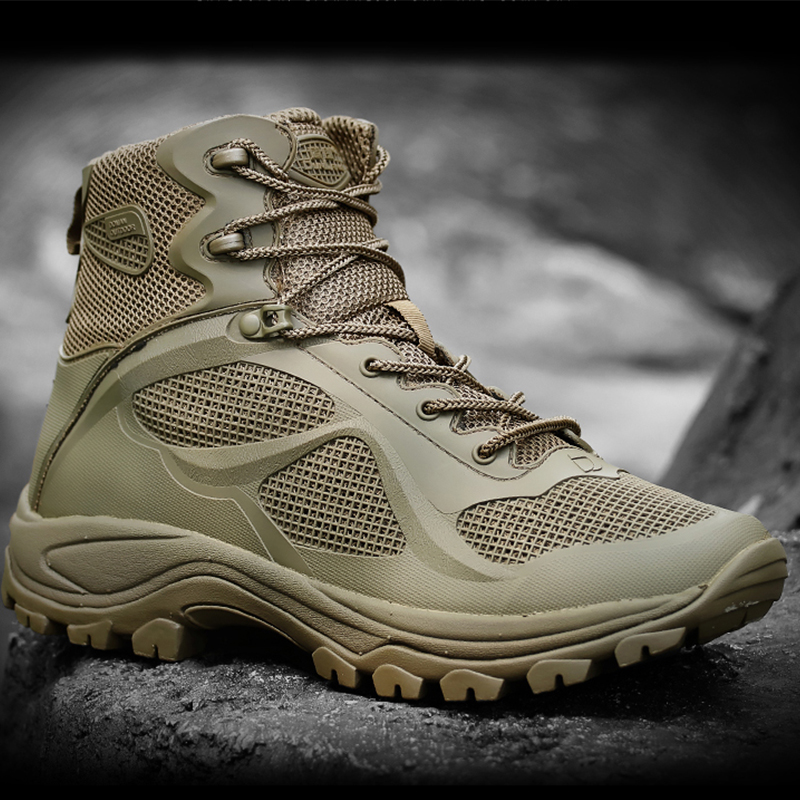 Super explosion Military Tactical Boots for Men Breathable Lightweight Desert Fashion Boat Army Work Shoes
