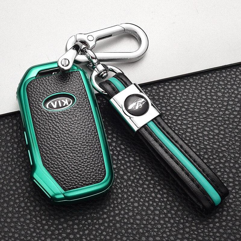 SOFT TPU Car Key Cover case Shell Pocket For KIA Sportage Ceed Sorento Cerato Forte 2018 2019 Smart Key Case Accessories