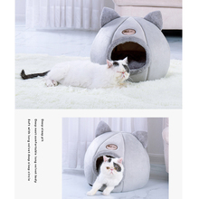 Cat-Bed Mattress Dog-House Foldable Cushion Lounger Cat-Accessories Puppy Cat Cave Warm