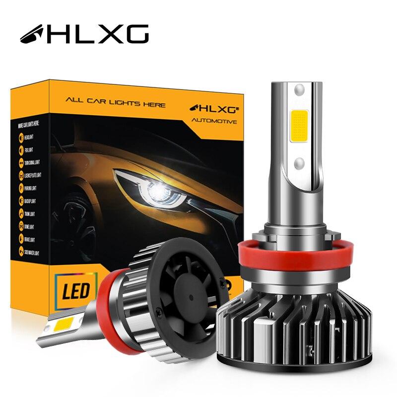 Hlxg H4 LED H7 H11 HB4 9006 9005 HB3 Auto Lichter diode nebel lampe Nebbia Mini Größe 12V für honda Toyota Renault Peugeot BMW Mazda