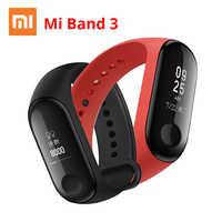 Xiao mi mi band 3 Mi band 3 smart polsband met Zwart Oranje Blauw Touch Screen Hartslag Fitness Tracker waterdicht