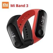 Фитнес трекер Xiaomi Mi Band 3, водонепроницаемый смарт браслет с черным, оранжевым, синим сенсорным экраном и Пульсометром