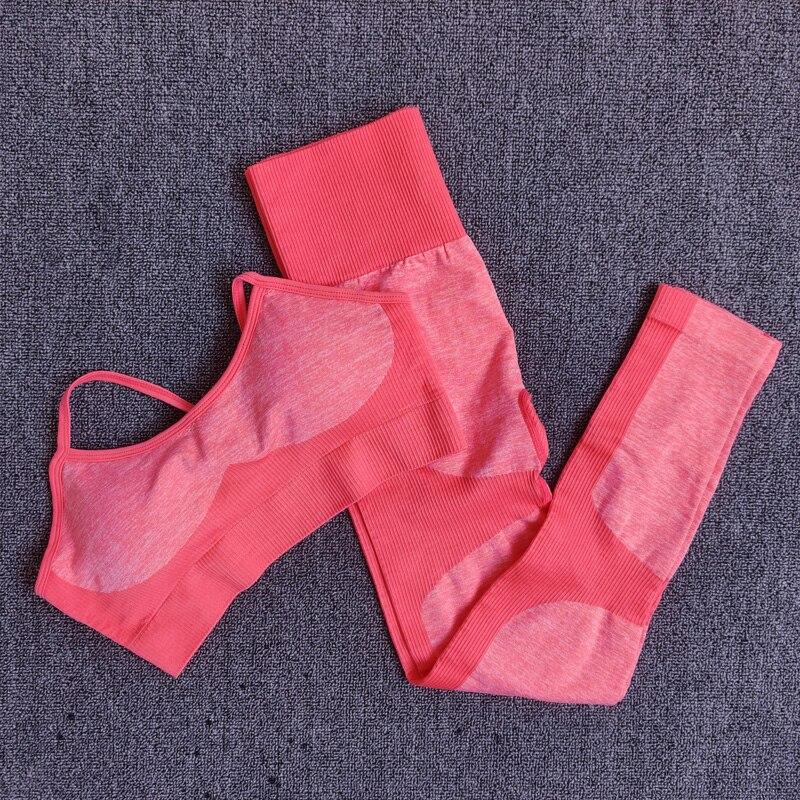 Orange -11 colors seamless yoga suit