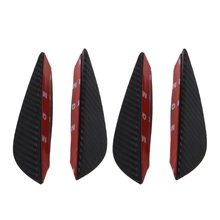 цена на 4x Universal Fit Front Bumper Lip Splitter Fins Body Spoiler