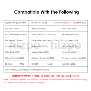 Image 5 - 1G Ram Android Rds Multimedia Car Dvd speler Gps Voor Toyota Universele RAV4 Corolla Vios Terios Land Cruiser 100 yaris Bt Swc Ect